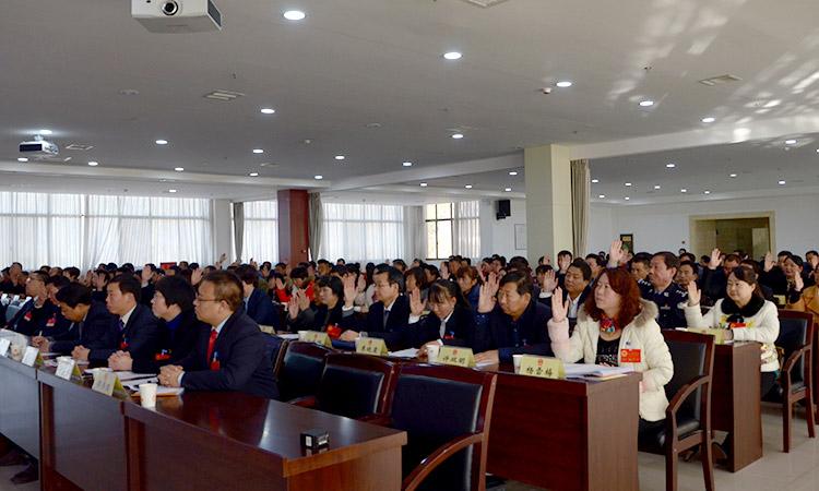 人大代表举手表决通过正式候选人名单